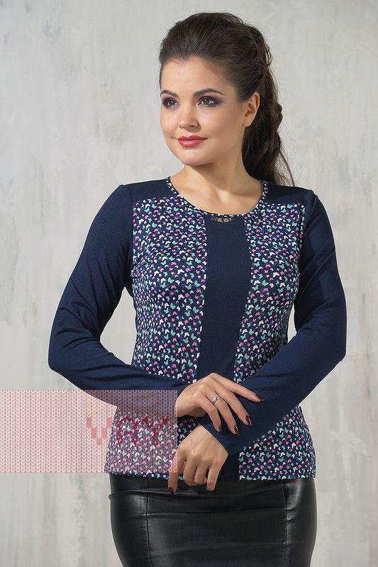 a144d997cd23 Блузка темно-синего цвета купить недорого в интернет-магазине с ...