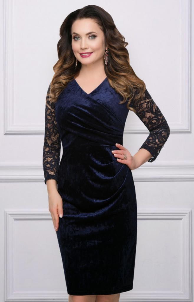 908e1c1e5a1b Платье темно-синего цвета купить недорого в интернет-магазине с ...