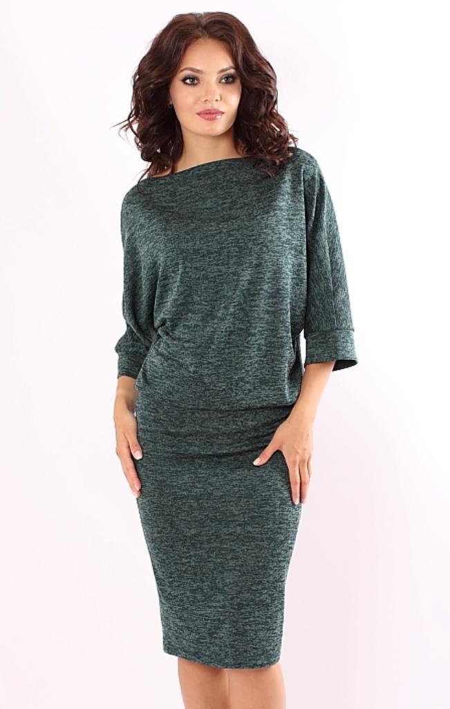041e1ce9f65 Платье зеленого цвета меланж купить недорого в интернет-магазине с ...