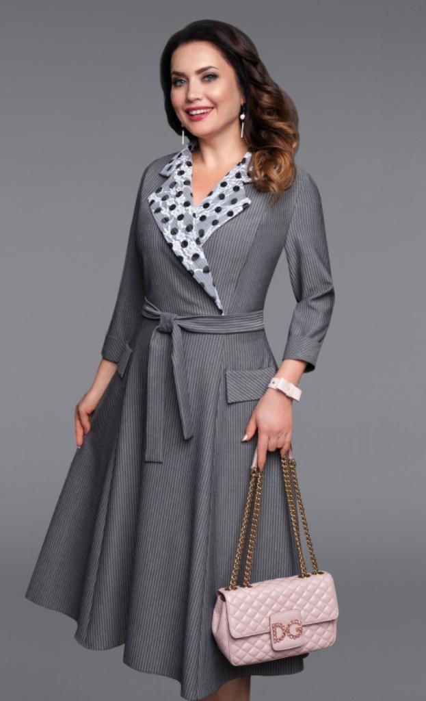 1f3ecc53613841d Платье для офиса серого цвета купить недорого в интернет магазине