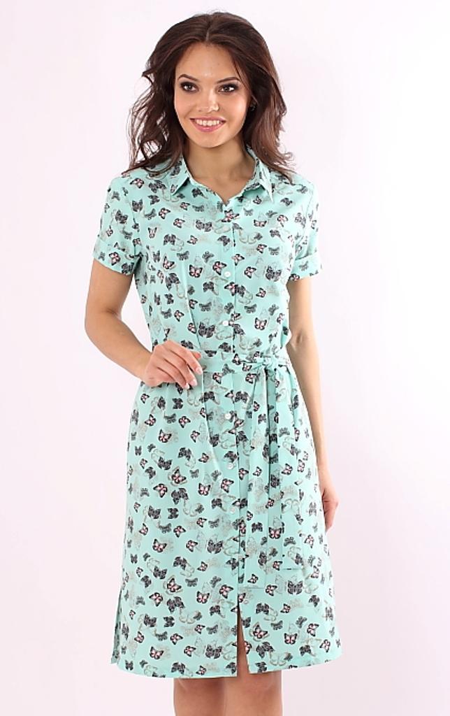 d8f1a34fbbd Платье бирюзовое с принтом купить недорого в интернет-магазине с ...