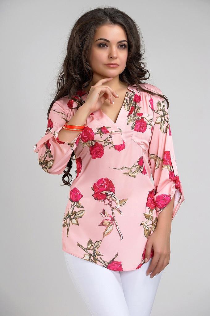 Блузка розового цвета доставка