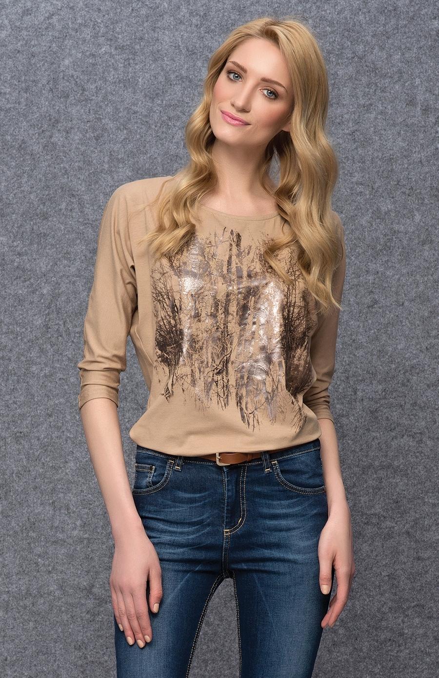 Бежевая блузка доставка